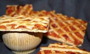 4 carré confituur gebakjes