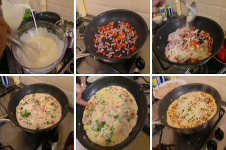 Stap voor stap recept om hartige pannenkoeken te bakken uit SOS Piet
